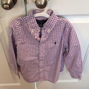 Ralph Lauren Size 5 Checkered Button Down Shirt